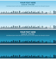 sao paulo skyline event banner vector image vector image