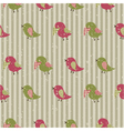seamless retro pattern with birds vector image