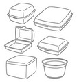 set of foam container vector image
