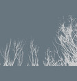 silhouettes of trees on subtle background tree vector image vector image