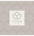 Simplified Lotus Yoga Studio Design Card vector image