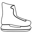 skate icon black color flat style simple image vector image vector image