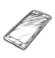 smartphone cellular call technology retro vector image vector image