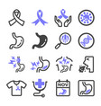 stomach cancer icon vector image vector image