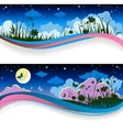 Summer night banners vector image