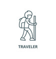 traveler line icon linear concept outline vector image vector image