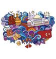 turkey hand drawn cartoon doodles funny travel vector image vector image
