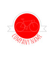 vintage red bicycle logo vector image