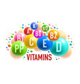 vitamin mineral banner of healthy food supplement vector image