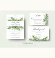 wedding invitation rsvp thank you cards floral set vector image vector image