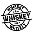whiskey round grunge black stamp vector image vector image