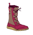 womens winter warm boots vector image vector image
