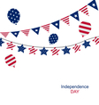 Bunting pennants for Independence Day USA vector image