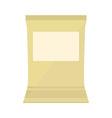 Brown blank pack vector image