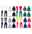 Set of mens sport clothes vector image