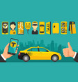 taxi drive service icon vector image