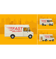 the delivery truck vector image