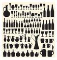 Wineware silhouettes vector image