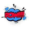 Comic sound effects pop art Lettering POW vector image