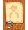 cowboy elements scroll vector image