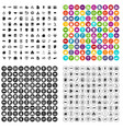 100 business school icons set variant vector image vector image