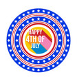 4th july happy independence day banner template vector image