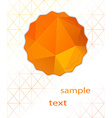 abstract orange background polygonal vector image vector image