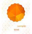 abstract orange background polygonal vector image