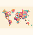 abstract world map made colorful geometry shape vector image vector image