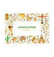american tribe frame native ethnic symbols border vector image vector image