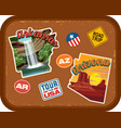 arkansas arizona travel stickers vector image vector image