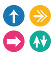 arrows icons vector image vector image