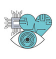 artificial intelligence surveillance heart medical vector image vector image
