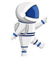 astronaut cartoon character design cute vector image vector image
