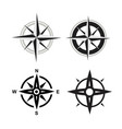 black compass icons set on white background vector image vector image