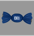 blue brand bonbon icon realistic style vector image