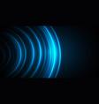 blue stellar circles glowing in dark space vector image vector image