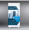 business roll up standee banner flyer design vector image vector image