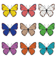 Butterflies Set3 vector image vector image