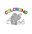 camel hand drawing coloring book modern doodle vector image vector image