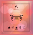 car symbol line icon vector image