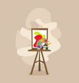 cartoon easel flat isolated on color background vector image vector image