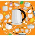 Cartoon kitchen utensil set collection of vector image vector image