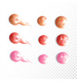 collection of various smears lip gloss vector image vector image