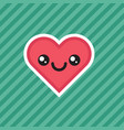 cute kawaii smiling heart cartoon design icon vector image vector image