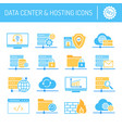 data center hosting and cloud services icons set vector image vector image
