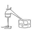 distilling apparatus vintage vector image vector image