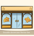 doodle cheese showcase set vector image vector image