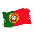 flag of portugal grunge abstract brush stroke vector image vector image