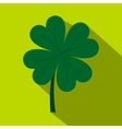 Four leaf clover icon flat style vector image vector image